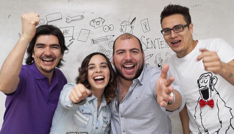 Sergio Liberona, Francisca Salomón, Luciano Muñoz y Mat Bello: el serio y destacado plantel docente a cargo del diplomado.
